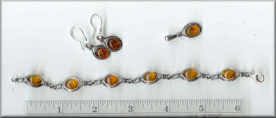 Baltic Jewelry Sets, Earrings, Bracelet Pendant