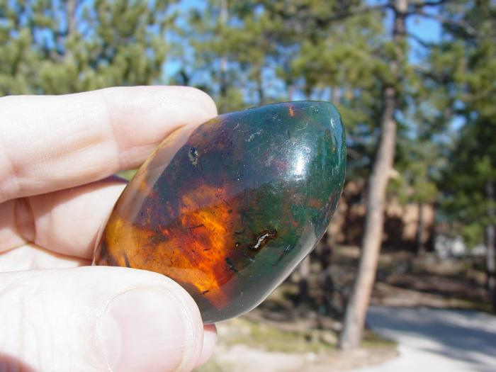 Green Amber from Dominican Republic