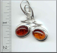 Baltic Amber Earrings Jewelry Fossil Inclusions